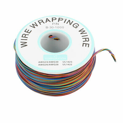 PCB Solder Multicolor 0.25mm Core Dia 30AWG Wire Wrapping Wrap 250M Length