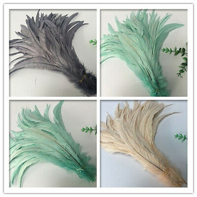 """100pcs belle couleur Badger Saddle Pretty ROOSTER Feathers 12-14/"""" inch"""