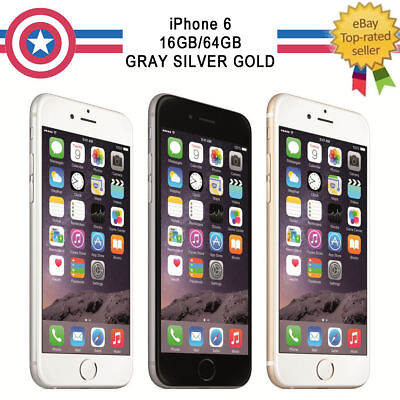 New Factory Unlocked Apple Iphone 6 16Gb 64Gb Smartphone Grey Silver Gold Us