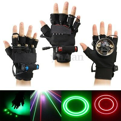 Green/Red/Multi-Color Laser Glove Lighting Visible Beam DJ Stage Dance Show