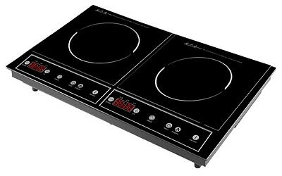 Topmatic Double induction cooker Cook plate Camping Travel portable Cooktop