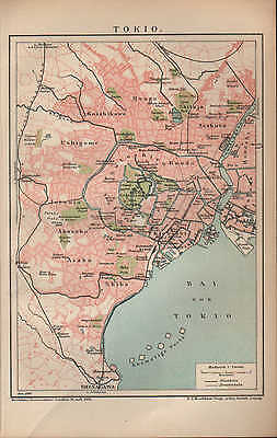 Landkarte city map 1904: Stadtplan: TOKIO. Japan Asien Maßstab: 1 : 70 000