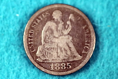 ESTATE FIND 1885 -  Seated Liberty Dime!! #F6842