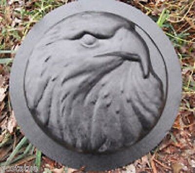 Eagle stepping stone mold plastic casting concrete plaster garden mould
