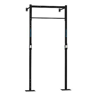 Capital Sports Dominate Pull Up Rack Power Steel Squat Dip Wall Mount Cross Gym