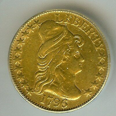 1796/5 Capped Bust Gold $5   Icg Genuine  Is Vf  Only 6,196 Minted