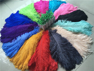 Wholesale, beautiful 10-100pcs rare color ostrich feathers 6-30inches / 15-75cm