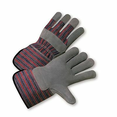 West Chester 120 Pair's Standard Reinforced Split Leather Palm Work Glove -Small