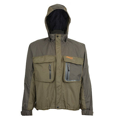 Airflo Defender Green Twin Layered Wind/Waterproof Fly Fishing Wading Jacket