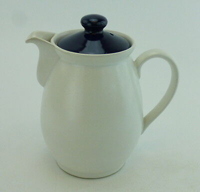 Denby Langley Potpourri Blue Coffee Pot With Lid 6 Cup England Stoneware Cream