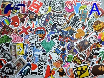 100pcs Skateboard Laptop Luggage Graffiti bomb Vinyl Decals Dope Car Sticker Mix