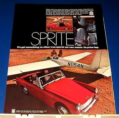 1969 red SPRITE convertible car Ad lowest price tag