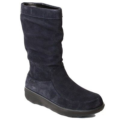NEW FitFlop Loaff Slouchy Knee Boot, Supernavy Suede, Zip, Women Size 7, $200