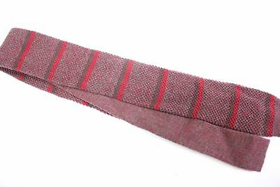 Mervyns Cambridge Classics Red Brown Striped Square Knit Necktie tie lot of 3