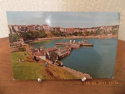 "Colour Postcard ""view From Castle Hill, Tenby"" Wales (Used 1972)"