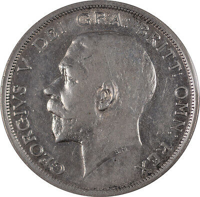 1916 Great Britian Half Crown, Nice Circulated Example