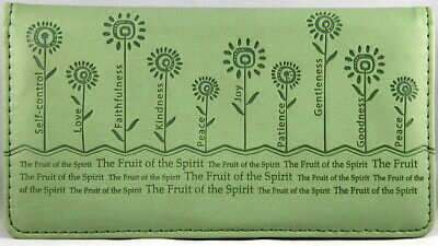 "Checkbook Cover Sage ""The Fruit of the Spirit"" Galatians 5:22-26 Brand NEW"