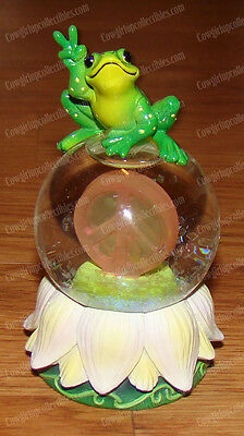 Atop Peace Sign FROG Waterglobe (Peace Frogs by Westlant, 18826)