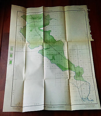 1899 USDA Underground Water Map Carlsbad Sheet New Mexico Color Map