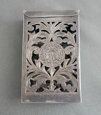Vintage La Esperanza DGS Sterling Silver Cigarette Case Made in Mexico;D483