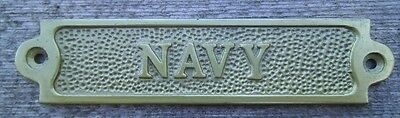 Brass NAVY Sign Plaque Nautical Ship Boat Decor NEW FREE SHIPPING #2
