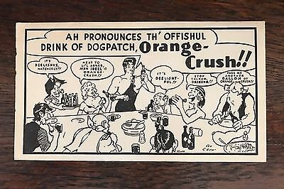 Vintage 1950 ORANGE CRUSH - LIL ABNER TATTOO TRANSFERS with Envelope