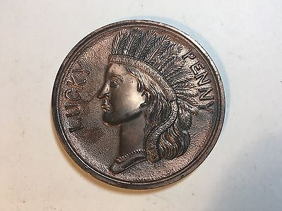 large Indian Head Souvenir Lucky Penny Of Mt. Vernon Mansion, VA