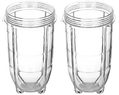 Tall Cups for Magic Bullet 2Pcs for Blender with Micro Fiber Cloth