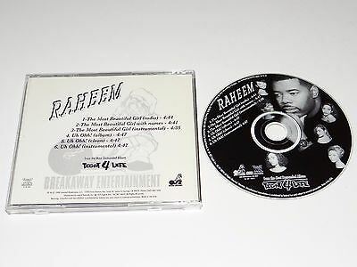 RAHEEM THE DREAM The Most Beautiful Girl/Uh Oh RARE PROMO CD Instrumental/Radio+
