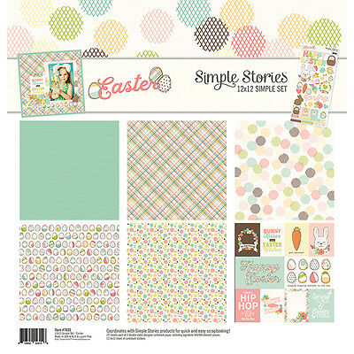 Simple Stories Easter (1) 12X12 Scrapbooking Collection Pack Kit Spring Bunny