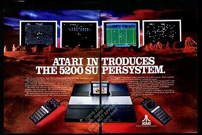 1982 Atari 5200 video game system photo vintage print ad