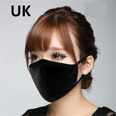 Cycling Anti-Dust Solid Cotton Mouth Mask Respirator Unisex
