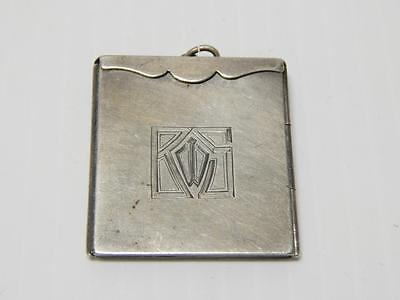 Rare Antique Vintage Victorian / Edwardian Sterling Silver Picture Frame Locket