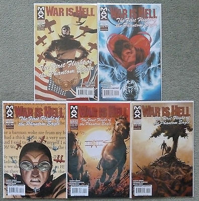 War Is Hell #1-5 Set..garth Ennis..howard Chaykin..marvel Max 1St Print..vfn