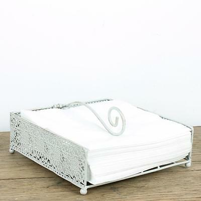 Napkin Holder Holders Napkins Shabby Chic Cream Vintage Rustic Patterned Stand