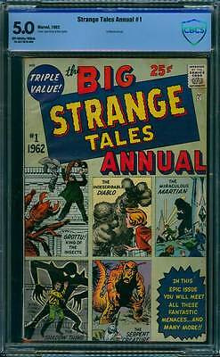 Strange Tales Annual # 1  Classic Pre-Hero reprints !  CBCS 5.0 scarce book !