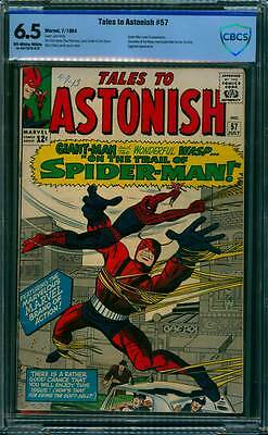 Tales to Astonish # 57  On the Trail of Spider-Man !  CBCS 6.5 scarce book !