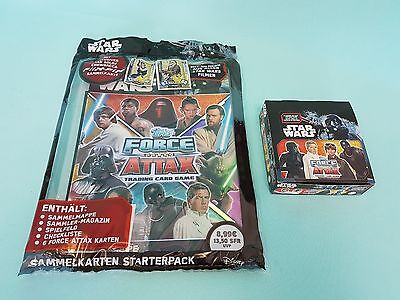 Topps Star Wars Force Attax Universe Starterpack + 1 x Display / 24 Booster Neu