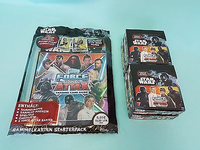 Topps Star Wars Force Attax Universe Starterpack + 4 x Display / 96 Booster Neu