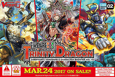 Cardfight Vanguard TCG - We Are Trinity Dragon Character Boosters x 12
