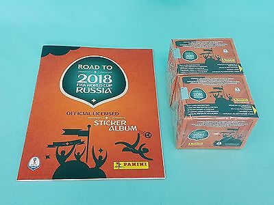 Panini Road to Fifa World Cup 2018 Russia Leeralbum + 2 x Display Russland WM