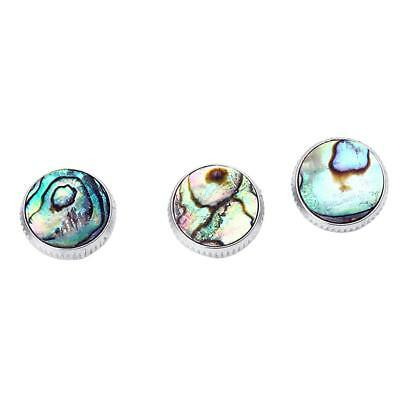 3pcs/Set Chrome Plated Abalone Shell Insert Finger Buttons for Trumpet Parts