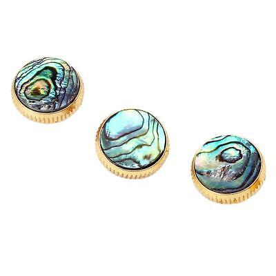 3pcs/Set Gold Plated Abalone Shell Insert Finger Buttons for Trumpet Parts