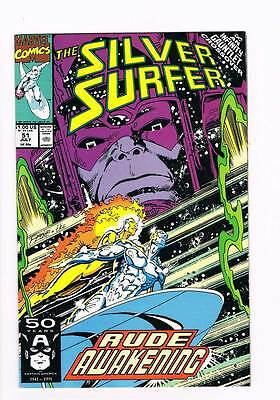 Silver Surfer # 51 Vol 2  Hunger ! Infinity Gauntlet grade 8.0 scarce book !!