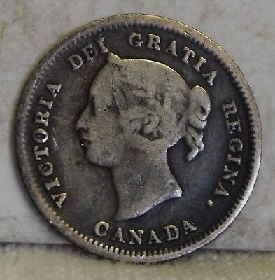 1881-H *Silver* Canadian Five Cents *Free S/H After 1st Item*