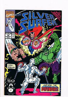 Silver Surfer # 58 Vol 2 Forgiveness ! Infinity Gauntlet grade 8.5 scarce book !