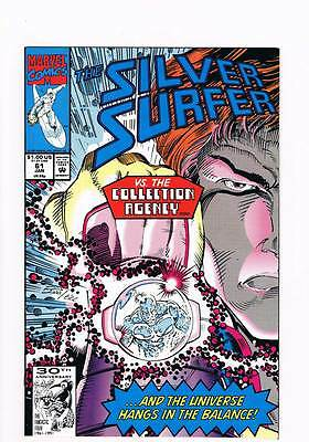 Silver Surfer # 61 Vol 2  Carrier ! grade 9.0 scarce book !!