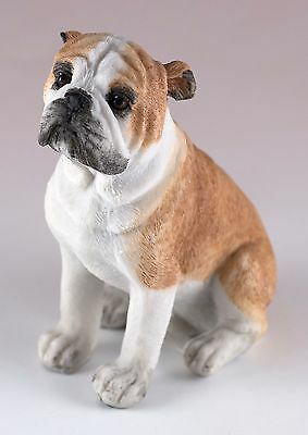 "English Bulldog Dog Figurine 3.5"" High Resin New In Box"