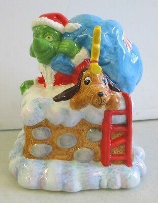 Dr. Seuss How The Grinch Stole Christmas Ceramic Coin Bank Chimney Scene Max