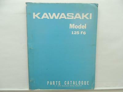 1970 Kawasaki Model 125 F6 Parts Catalog Book Manual L10635